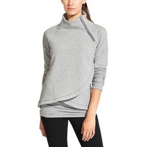 Athleta Fancy Fleece Cozy Karma Asym Pullover XL